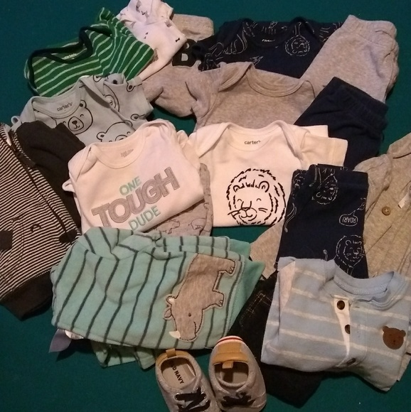 14e3f5cf9 Carter's Matching Sets | Lot 7 Sets Carters Baby Boy Outfits 3 Mos ...